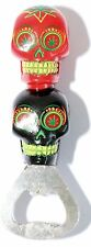 CANDY DOUBLE SKULL WITH LEAF BOTTLE OPENER BEER BOTTLE OPENING MADE EASY NEW