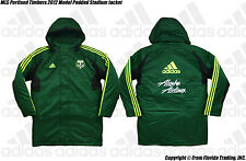 MLS Portland Timbers 2012 Model adidas Padded Stadium Jacket(M)Green O25981