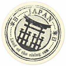 "Japan travel car bumper window suitcase sticker 4"" x 4"""