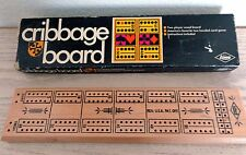 Vintage 1968, Wood, Cribbage Board, by E. S. Lowe Company with Box
