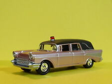 1957 CHEVY NOMAD AMBULANCE HEARSE 1/64 SCALE LIMITED EDITION REAL RUBBER PW