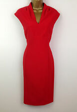 New Per Una M&S Wiggle Red Shift Bodycon Evening Pencil Dress Party UK Size 22