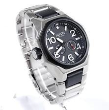 Nixon The Tangent Black G10 Stainless Steel 47mm Tide Surf-Inspired Watch A397