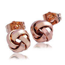 gold filled rose flower lucky stud Earrings Trendy jewelry free shipping
