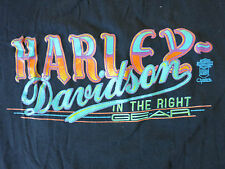 Harley-Davidson Vintage 80's In The Right Gear T-Shirt, Size Large, Quebec