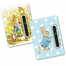 2 x Peter Rabbit Child and Baby Room and Nursery Thermometers