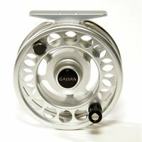 GALVAN RUSH LIGHT LT R-6 FLY REEL CLEAR SILVER 6/7 WT ROD USA MADE FREE $80 LINE