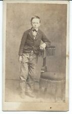 CDV of a Young Boy with Chair No Imprint