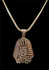 KING TUT TYGA LAST KINGS EGYPTIAN PENDANT CHAIN NECKLACE 14K GOLD GP HIP HOP