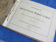 PORTRAITS OF AMERICAN PROTESTANT MISSIONARIES TO HAWAII Original 1901 Book RARE!