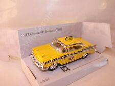 "1957 Chevrolet Bel Air Yellow Taxi  Die Cast Model 5"" Kinsmart Collectable New"