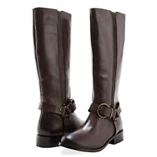 Redfoot Womens Leather Twin Zip Boots Cowboy Buckle 5/37 RRP £150 NEW* Brown