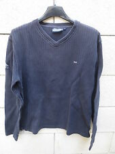 Sweat col V EDEN PARK Team gris anthracite pull rugby M coton