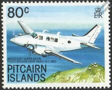 BEECHCRAFT QUEEN AIR (Photo Mission) Aircraft Mint Stamp (1989 Pitcairn Islands)