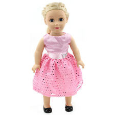 "Fits 18"" American Girl Madame Alexander Handmade Doll Clothes pink dress MG018"