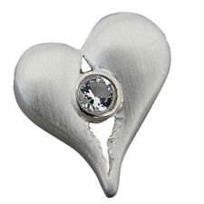 Anhänger Silber 925 Herz Bergkristall - Kreativ (3201)