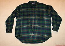 Polo Ralph Lauren Holiday Green Tartan Plaid Cashmere Shirt Jacket XXL FITS XXXL