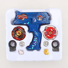 METAL FUSION Blue Hybrid Wheel Fight Attack Double Launcher +2 Beyblade Set Toys
