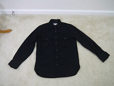 $158 J.Crew Wallace & Barnes CPO jacket Overshirt Black Small Item 03067 NWOT!