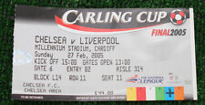 Ticket for collectors Curling Cup Final 2005 Chelsea Liverpool in Cardiff