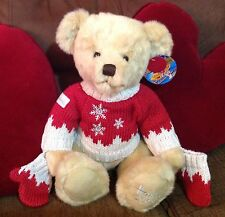 2008 Harrods Teddy Bear with tag - named Oscar - Xmas / Christmas
