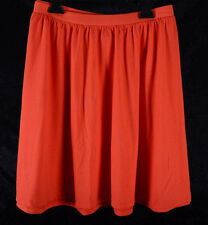Women's Old Navy Pull On Circle Skirt Jersey Orange Red Size XL Light Weight NEW