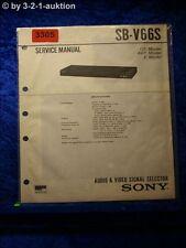 Sony Service Manual SB V66S Video Audio Selector (#3305)
