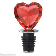 Sale  Faceted Acrylic Red Love Heart Wine Oil Bottle Stopper  Boxed Gift  New