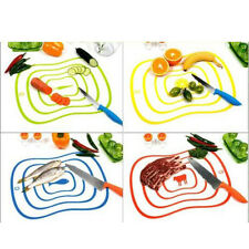 Mini Ultra-thin Plastic Fruit Vegetable Chopping Board Frosted Antibacteria Mat