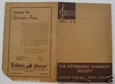 Program  For The Pittsburgh Symphony Society 1938-39  Syria Mosque