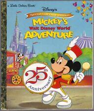MICKEY'S WALT DISNEY WORLD ADVENTURE ~ Children's Little Golden Book 1st Edition