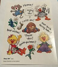 Vintage Suzy's Zoo Sheet Sticker 9600