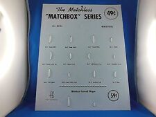 Matchbox, die ersten 1-12 Modelle, Repro Stand/Wand Display, USA, sehr selten!