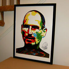 Steve Jobs, Apple, iPhone, Entrepreneur, Inventor, Pixar, 18x24 POSTER w/COA