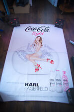 COCA COLA LIGHT KARL LAGERFELD A 4x6 ft D/S Original Advertising Poster 2011