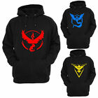 Pokemon Go Logo Hooded Team Valor Instinct Mystic Symbol Cosplay Costume Hoodie
