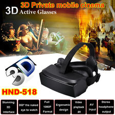 "HMD-518 80"" 1080P 3D Gafas De Vídeo VR Realidad Virtual HD Private Móviles Cine"