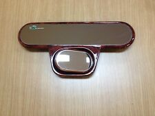 """11"""" PANORAMIC WOOD GRAIN  WIDE 2-IN-1 SAFETY REAR VIEW (BABY VIEW MIRROR) JH"""