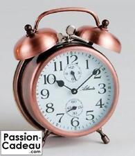 Réveil mécanique à cloches et en métal ATLANTA, couleur cuivre - NEUF