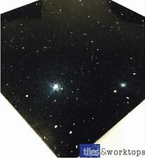 SAMPLE - Black Quartz Stardust Starlight Mirror Fleck Tiles  £36.99 m2  30 x 60