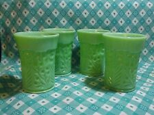 Jadeite 8oz Dogwood Juice Tumblers in Excellent Condition x 4