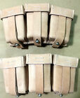 WWII WW2 German K98 98K TRIPLE AMMO LEATHER POUCH SET - NATURAL (Repro.)