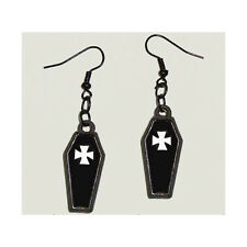 COFFIN EARRINGS GOTHIC HALLOWEEN CASKET