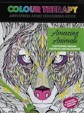 ADULT COLOURING COLOUR THERAPY ANTI STRESS 64 PAGE A4 BOOK AMAZING ANIMALS
