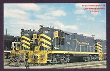 LMH Postcard  DETROIT TOLEDO SHORE LINE  GP-7 DTSL DTS #50 #43  Engine Yard 1971