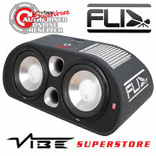 "Fli Trap FT12TA-F6 ACTIVE DOUBLE 12"" 2400W Car Sub Subwoofer Bass Box Enclosure"
