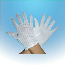 Convenient New Anti-Static Anti-Skid Gloves ESD PC Computer Working White AU3C