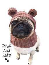 The Teddy Bear Dog hat snood for your dog. French Bulldog, Pug, hat Costume