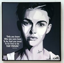 Ruby Rose canvas quote wall decals photo painting pop art poster