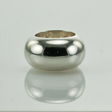 GUCCI WIDE DOME STERLING SILVER RING size 7.5 made in Italy